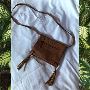 Roxy brown crossbody purse
